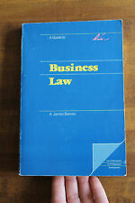 Business Law by A James Barnes paperback text book 1981 Good condition