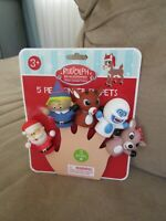 BRAND NEW Rudolph The Red Nosed Reindeer 5 Piece Finger Puppet Set
