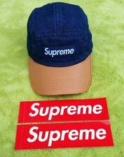 Supreme   2 Tone Denim Camp Cap   Color: Blue   Authentic Premium Rare