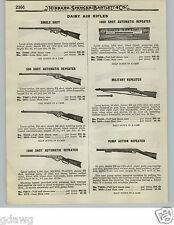 1919 PAPER AD 2 Sided King Quackenbush Benjamin Daisy Military Pump Air Rifle BB