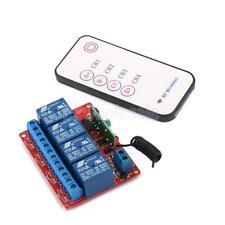 12V 4-Ch Way 433M RF Wireless Relay Self-lock DIY Module with Remote Control