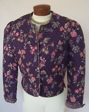 VERA BRADLEY Vintage Quilted Jacket Sz S RETIRED Heather Print 1991 EXC COND