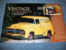 "1956 Ford F-100 Panel Truck Resto-Mod Article ""Vintage Trucking"""