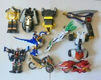 POWER RANGERS - JOB LOT BUNDLE COLLECTION ZORD PARTS & VEHICLES FIGURES ETC LL5