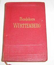 Baedekers  Württemberg und Hohenzollern - Schwäbische Alb / Bodensee / .... 1925