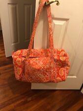 Vera Bradley Small Duffel Travel Bag - Pink and Orange Paisley