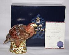 Royal Crown Derby-Prestige Golden Eagle fermacarte-BOX/certificato-in buonissima condizione