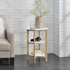 en.casa® Beistelltisch Sofatisch Couchtisch Aufbewahrung Wohnzimmertisch Rund