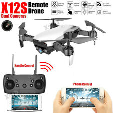 Dual Camera 1080P RC Drone X12S FPV Follow Me Wifi Aircraft Foldable Quadcopter