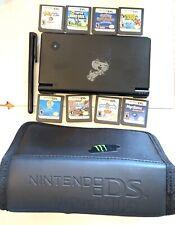 Nintendo DSi Matte Black Console Mario Pokémon Petz Sims World Zoo Stylus