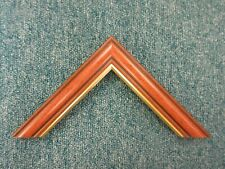 4 x 90cm lengths (3.6m) of 33mm Walnut & Gold Polcore Picture Frame Moulding