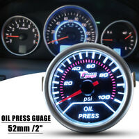 "Universal Car Motor Auto 2"" 52mm LED 0-100 PSI Oil Pressure Press Gauge Meter"