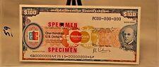 $100 US Travelers Cheque ETC Specimen Thomas Cook