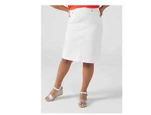 Ruth Langsford Twill Skirt Petite White Size 16 BNWT