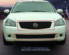 Black Billet Grille Grill Combo  For Nissan Altima 2005-2006