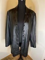 Uniform Leather By John Paul Richard Leather Coat Size 10
