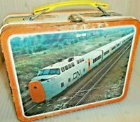 RARE 1970 Canadian Train Metal Lunch Box CN CP Pacific Railroad ~ Cool Lunchbox!
