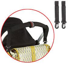 2 Pram Clips Bag Buggy Set BAG HOOKS Fit Bugaboo, Phil+Teds, Quinny