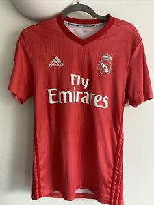Real Madrid Red Third Shirt 18/19 Adidas / Parley Size Small