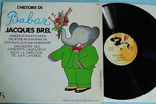 Jacques BREL-L 'histoire de Babar, vinyle, LP, France'69, vg +
