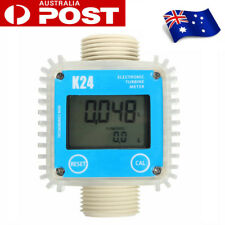 K24 1'' Turbine Digital Diesel Fuel Flow Meter Guage Counter For Chemicals Water
