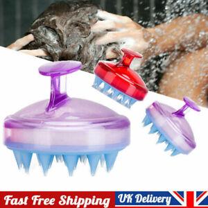 Silicone Shampoo Scalp Shower Body Washing Hair Massage Massager Brush Comb UK