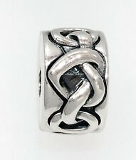 PANDORA Knotted Hearts 925 Sterling Silver Charm - 798035