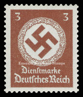 EBS Germany 1942 3 Pfennig Official Swastika Dienstmarke Michel 166 MNH**