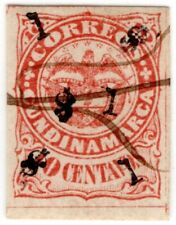COLOMBIA - CUNDINAMARCA - PROVISIONAL 1p STAMP - 1883 - MICHEL 9II - VERY RARE