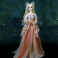 1/3 BJD Doll 60cm Puppe Girl + Handpainted Face Makeup + Eyes + Wigs + Clothes