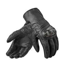Guanti nero in pelle per motociclista pelle di vacchetta
