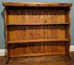 Large rustic vintage pine Welsh dresser top - shelving - Kitchen - Shelves
