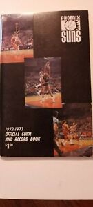 PHOENIX SUNS 1972-1973 OFFICIAL GUIDE & RECORD BOOK - 10 SIGNED PLAYER PiCTURES