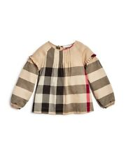 "NEW $150 Burberry Girls' Frill Check Blouse Top Shirt  ""Aggi"" , Size 14Y/164cm"