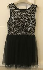 MandCo Kylie Girls Black Sequence Dress Age 12
