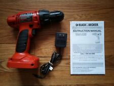 Genuine Black & Decker 12V Cordless Drill/Driver - BARE TOOL / CORD / MANUAL
