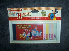 Disney Memo Pad Disneyland Ticket Book circa 2014
