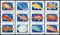 St Helena Fishes Stamps 2008 MNH Fish Definitives Gurnard Mullet Hogfish 12v Set