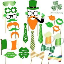 St Patricks Day Selfie Photo Booth Sticks Party Favors W Banner Bar Parade Props