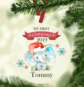 Personalised baby's first Christmas bauble ornament boy girl tree 2020 baby gift
