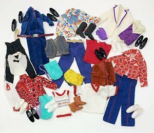 Lot of Vintage 1970's Ken Doll Clothes Outfits Shoes Pants Shirts Jumpsuit Vests