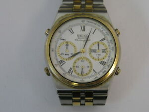 Seiko Chronograph Watch w/ Band 7A38-7289