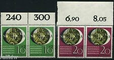 Bund Briefmarkenausstellung NBA 1951** Paare vom Oberrand (S8305)