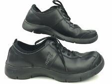 Dansko Women's Size 10.5 Elise Black Leather Slip Resistant Oxford Comfort Shoes