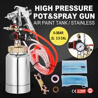 0.5 Gallon 3.5mm High Pressure Pot Paint Sprayer Full Kit 1/4 Air Inlet 3m Hose