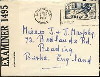 IRELAND - 1941 - SG128 on censored cover from Limerick to England