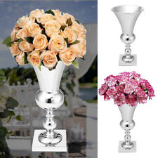 Silver Large Plated Luxury Flower Vase Display Urn Table Centrepiece 50cm  HOT