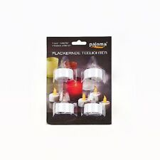 LED Kerzen warm flackerndes Licht inkl Batterie Pajoma Classic Neu 8xTeelichter