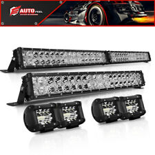 "40INCH LED Light Bar Combo + 20'' + 4"" PODS SUV 4WD FORD Beam 4X4 Offroad 42/22"