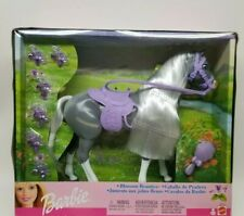 Barbie 2002 Horse Nrfb Blossom Beauties Gray Violet Mattel